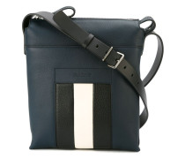 contrast stripe shoulder bag