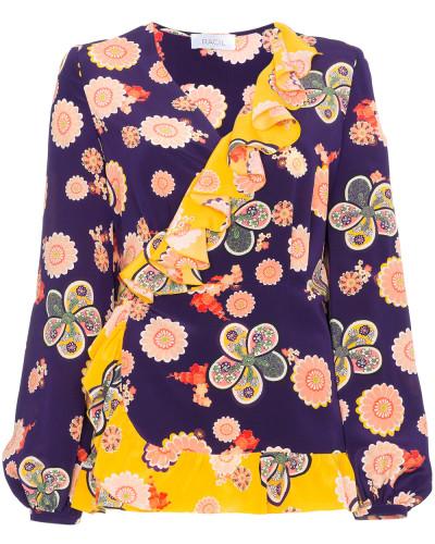Seidentop mit floralem Print