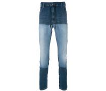 Schmale Jeans mit Kontrasteinsätzen