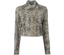 Cropped-Jacke in Pythonleder-Optik - women
