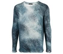 Batik-Pullover im Distressed-Look