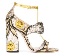 Sandalen mit floraler Verzierung - women