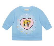 Baby sweatshirt with tiger print