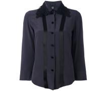 - Seidenhemd mit besticktem Kragen - women