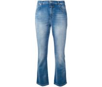 Halbhohe Bootcut-Jeans - women