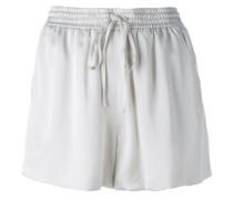 satin drawstring shorts