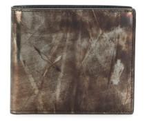 vintage print billfold wallet