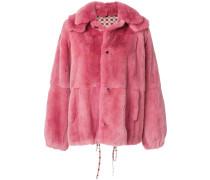 oversized panelled coat