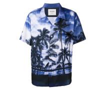 Bowlinghemd mit Palmen-Print