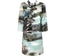 Kleid mit Landschafts-Print