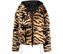 Gefütterte Jacke mit Tiger-Print