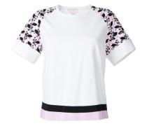 T-Shirt mit bestickten Ärmeln