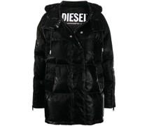 coated padded down coat