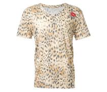 T-Shirt mit Leopardenmuster