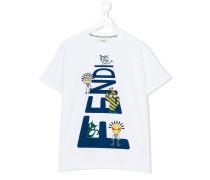 T-Shirt mit Print - kids - Baumwolle - 4 J.