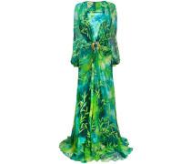 Langes Kleid mit Jungle-Print