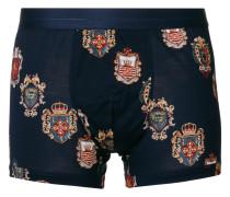 crest print boxers