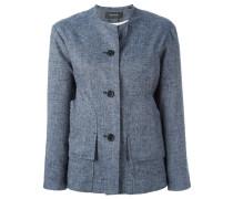 - Kragenlose Jacke mit Knöpfen - women