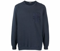 chest-pocket crewneck sweatshirt