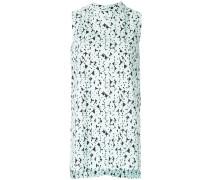 sleeveless patterned blouse