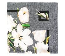Seidenschal mit Tulpen-Print