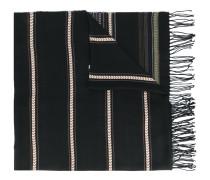 - ethnic pattern fringed scarf - men - Viskose