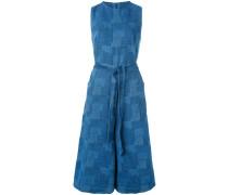 - Cropped-Jumpsuit mit Gürtel - women - Baumwolle