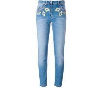 Skinny-Jeans mit Diamanten - women
