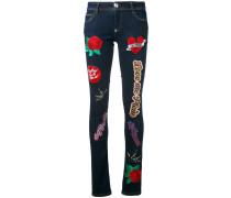 'Teddy Boss' Skinny-Jeans mit Patch - women