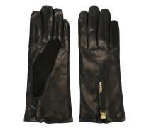 - Lederhandschuhe mit Reißverschluss - women