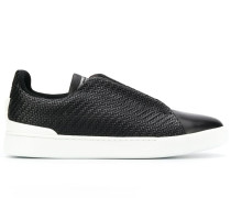 extended-eyestay woven low-top trainers