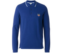 long-sleeved Tiger crest polo shirt