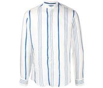 Gestreiftes 'La Greca' Leinenhemd
