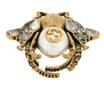 pearl and crystal bee ring