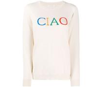 'Ciao' Intarsien-Pullover