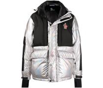 colour-block puffer jacket
