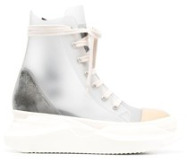 transparent-effect high-top sneakers