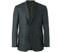 tartan pattern blazer