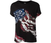 T-Shirt mit US-Flaggen-Print