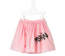 spray paint logo print skirt