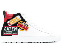 High-Top-Sneakers mit Patches