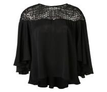 embellished panel blouse