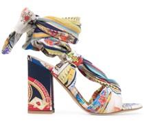 Sandalen mit Print 95mm