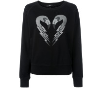 - Sweatshirt mit Flamingo-Print - women