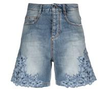 Jeans-Shorts mit Stickerei