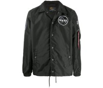 'NASA' Shell-Jacke aus Satin