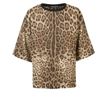 Oversized-T-Shirt mit Leopardenmuster