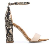Sandalen mit Schlangenleder-Print