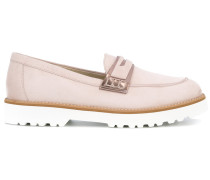 Penny-Loafer mit geriffelter Sohle - women