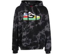Low Cowboy-print cotton hoodie